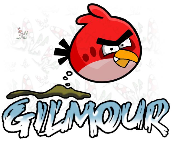 Angry Bird shits on Gilmour