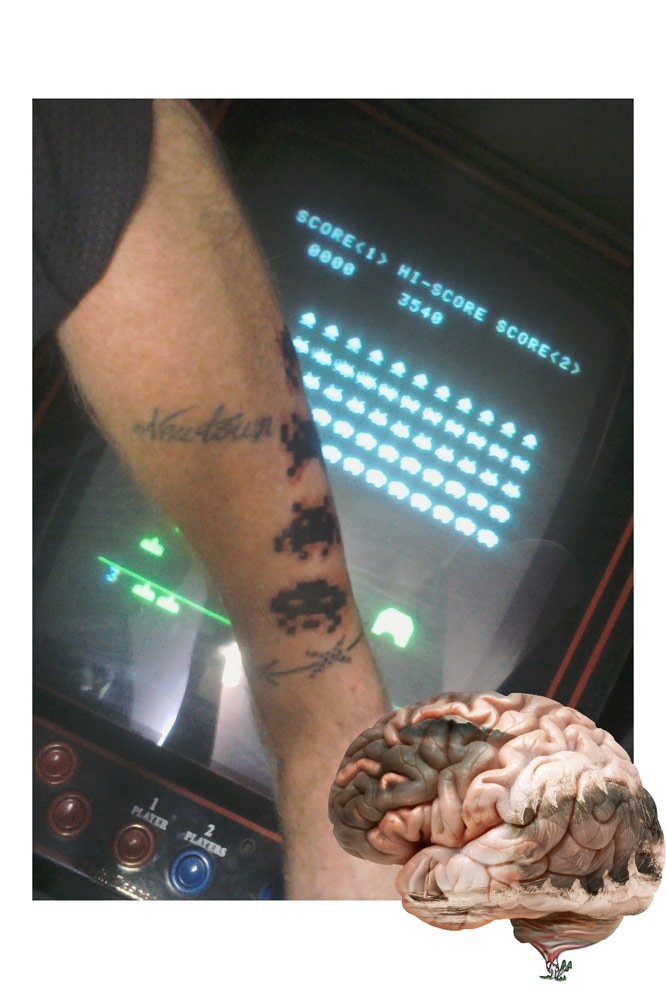 Space Invaders tattoo