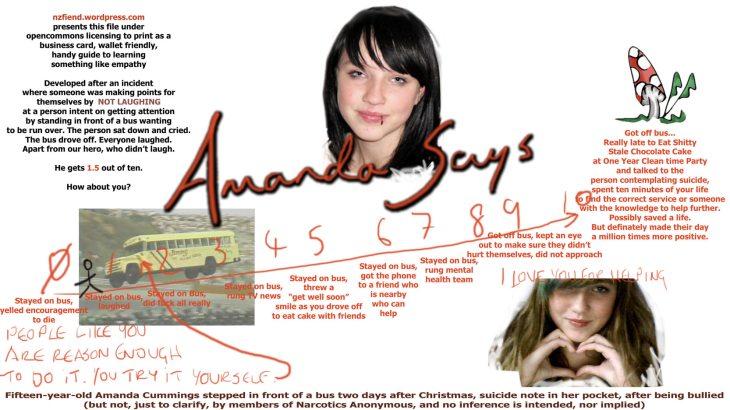 Amanda Cumming Suicide by BUS